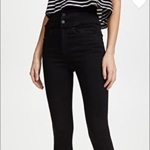 Blank NYC Black High Rise Corset Skinny Jeans